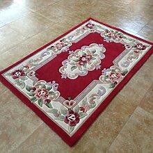 Teppich/ Couchtisch Schlafzimmer Teppich/Chinesische rote einfache Blumen Hochzeit Teppich-A 120x170cm(47x67inch)