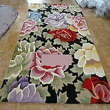 Teppich/Couchtisch Teppiche/ Sofa-Teppich/Wohnzimmer Schlafzimmer Blumenteppich-A 160x230cm(63x91inch)