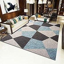Teppich deko kinderzimmer Jungen Blau grau