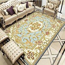 Teppich deko Wohnung Easy Clean Blue Yellow