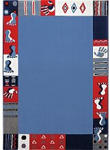 Teppich Delaplaine in Blau Ebern Designs