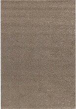Teppich Deluxe brown/ gold 120x170cm, 120 × 170 cm