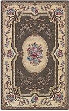 Teppich Design Aubusson Farbe Schlamm Rückseite
