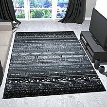 Teppich Design Wohnzimmer Skandinavisch Grau Mit Tier und Blumen Muster - VIMODA, Maße:120x170 cm