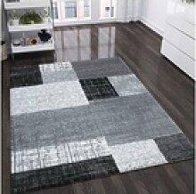 Teppich Designer Kurzflor Teppich in Schwarz, Grau