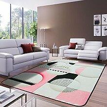 Teppich dicker Schlafzimmer mit Teppich Sofa Couchtisch rechteckigen Teppich bedeckt ( Farbe : 1 , größe : 120*180cm )