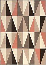 Teppich Dreieck Design Taupe Beige Altrosa Größe