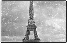 Teppich Eiffelturm Roter Regenschirm Bodenmatte
