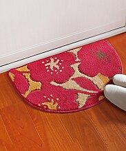 Teppich Einfach Kreativ Der Tür Teppich Schlafzimmer Bedside Teppich Wasserabsorption Rutschfeste Wohnzimmer Hall Sofa Teppich Shaggy Teppich ( Farbe : C , größe : 40*63CM )