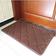 Teppich Einfache Farbe Rectangle Teppich Wasserabsorption rutschfeste Badezimmer Wohnzimmer Sofa Teppich Hall Schlafzimmer Teppich Lebensmittel ( Farbe : B , größe : 40*60cm )