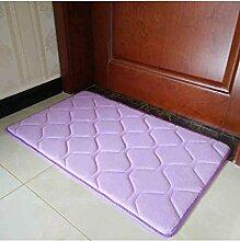Teppich Einfache Farbe Rectangle Teppich Wasserabsorption rutschfeste Badezimmer Wohnzimmer Sofa Teppich Hall Schlafzimmer Teppich Lebensmittel ( Farbe : A , größe : 60*90CM )