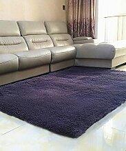 Teppich Einfache feste Farbe Teppich Wasserabsorption rutschfeste Rechteck Sofa Couchtisch Teppich Hall Wohnzimmer Schlafzimmer Teppich Lebensmittel ( Farbe : A , größe : 120*200CM )
