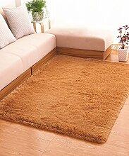 Teppich Einfache feste Farbe Teppich Wasserabsorption rutschfeste Rechteck Sofa Couchtisch Teppich Hall Wohnzimmer Schlafzimmer Teppich Lebensmittel ( Farbe : A , größe : 120*160CM )