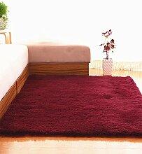 Teppich Einfache feste Farbe Teppich Wasserabsorption rutschfeste Rechteck Sofa Couchtisch Teppich Hall Wohnzimmer Schlafzimmer Teppich Lebensmittel ( Farbe : E , größe : 120*160CM )