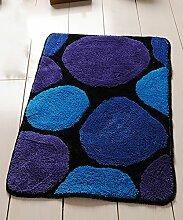 Teppich Einfache Idee Bedside Teppich Wasserabsorbierung Rutschfeste Tür Teppich Europäische Stil Wohnzimmer Hall Sofa Schlafzimmer Teppich Shaggy Teppich ( Farbe : C , größe : 60*90CM )