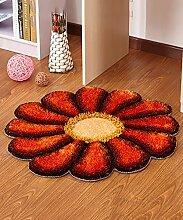 Teppich Einfache Idee Runde Teppich Sofa Couchtisch Teppich Rutschfeste Türmatten Wohnzimmer Hall Schlafzimmer Teppich Lebensmittel ( Farbe : J , größe : 90*90cm )