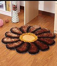 Teppich Einfache Idee Runde Teppich Sofa Couchtisch Teppich Rutschfeste Türmatten Wohnzimmer Hall Schlafzimmer Teppich Lebensmittel ( Farbe : B , größe : 90*90cm )