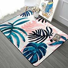 Teppich Einfache kleine frische Pflanze Teppich blau ( größe : 1m*1.5m )
