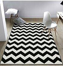 Teppich Einfache kreative Streifen Bedside Teppich Wasserabsorption rutschfeste Tür Matten Wohnzimmer Hall Sofa Schlafzimmer Teppich Lebensmittel ( größe : 120*170CM )