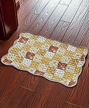 Teppich Einfache Moderne Baumwolle Wasserabsorption Rutschfester Teppich Das Tür Schlafzimmer Bedside Teppich Wohnzimmer Sofa Sofa Teppich Shaggy Teppich ( Farbe : C , größe : 50*70cm )