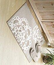 Teppich Einfache Moderne Wasserabsorption Rutschfester Teppich Das Tür Schlafzimmer Bedside Teppich Wohnzimmer Sofa Sofa Teppich Shaggy Teppich ( Farbe : E , größe : 50*80CM )