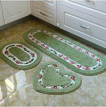 Teppich Einfache Moderne Wasserabsorption Rutschfester Teppich Das Tür Schlafzimmer Bedside Teppich Wohnzimmer Sofa Teppich (dreiteilig) Shaggy Teppich ( Farbe : B )