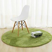 Teppich einfache runde tee zimmer schlafzimmer wohnzimmer nachttisch korb decke hause einfarbig computer stuhl matten ( Farbe : Grün , größe : Diameter 120cm )
