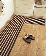 Teppich Einfache rutschfeste Streifen Teppich Kreative Teppich Sofa Couchtisch Teppich Moderne Türmatten Wohnzimmer Hall Schlafzimmer Teppich Shaggy Teppich ( Farbe : A , größe : 50*160CM )