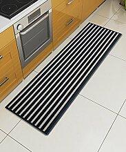 Teppich Einfache rutschfeste Streifen Teppich Kreative Teppich Sofa Couchtisch Teppich Moderne Türmatten Wohnzimmer Hall Schlafzimmer Teppich Shaggy Teppich ( Farbe : B , größe : 50*120CM )