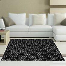 Teppich einfache schwarz-weiß home persönlichkeit couchtisch matte / wohnzimmer schlafzimmer tür matte / nacht teppich / kinder krabbeln teppich ( größe : 40*60cm )