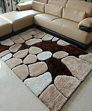 Teppich Einfacher Dicker Teppich Moderner Sofa Couchtisch Teppich Kreativ Rutschfeste Türmatten Wohnzimmer Hall Schlafzimmer Teppich Shaggy Teppich ( Farbe : F , größe : 120*170CM )
