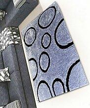 Teppich Einfacher Dicker Teppich Moderner Sofa Couchtisch Teppich Kreativ Rutschfeste Türmatten Wohnzimmer Hall Schlafzimmer Teppich Shaggy Teppich ( Farbe : D , größe : 120*170CM )