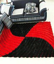 Teppich Einfacher fester Teppich Kreativer Streifen Teppich Sofa Couchtisch Teppich Rutschfeste Türmatten Wohnzimmer Hall Schlafzimmer Teppich Shaggy Teppich ( Farbe : I , größe : 140*200CM )