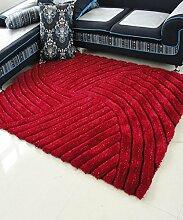 Teppich Einfacher fester Teppich Kreativer Streifen Teppich Sofa Couchtisch Teppich Rutschfeste Türmatten Wohnzimmer Hall Schlafzimmer Teppich Lebensmittel ( Farbe : F , größe : 120*170CM )