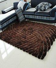 Teppich Einfacher fester Teppich Kreativer Streifen Teppich Sofa Couchtisch Teppich Rutschfeste Türmatten Wohnzimmer Hall Schlafzimmer Teppich Lebensmittel ( Farbe : B , größe : 120*170CM )