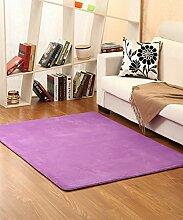 Teppich Einfacher Normallack Bedside Carpet Kreative Wasserabsorption Rutschfeste Türmatten Wohnzimmer Hall Sofa Schlafzimmer Teppich Shaggy Teppich ( Farbe : A , größe : 120*200CM )