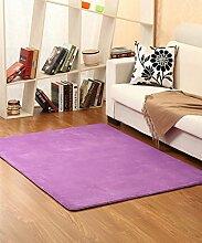 Teppich Einfacher Normallack Bedside Carpet Kreative Wasserabsorption Rutschfeste Türmatten Wohnzimmer Hall Sofa Schlafzimmer Teppich Shaggy Teppich ( Farbe : B , größe : 80*160cm )