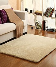 Teppich Einfacher Normallack-Teppich Wasser-Absorption rutschfester Badezimmer-Wohnzimmer-Sofa-Teppich-Hall-Schlafzimmer-Teppich Lebensmittel ( Farbe : C , größe : 60*90CM )