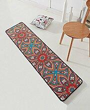 Teppich Einfacher rutschfester Teppich Kreativer Teppich Sofa Couchtisch Teppich Moderne Türmatten Wohnzimmer Hall Schlafzimmer Teppich Shaggy Teppich ( Farbe : B , größe : 60*200CM )