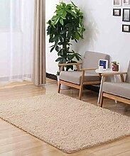 Teppich Einfarbig Einfache dicke Bedside Carpet Kreative Wasserabsorption Rutschfeste Türmatten Wohnzimmer Hall Sofa Schlafzimmer Teppich Lebensmittel ( Farbe : A , größe : 100*100CM )