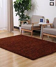 Teppich Einfarbig Einfache dicke Bedside Carpet Kreative Wasserabsorption Rutschfeste Türmatten Wohnzimmer Hall Sofa Schlafzimmer Teppich Lebensmittel ( Farbe : B , größe : 63*160CM )