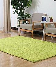 Teppich Einfarbig Einfache dicke Bedside Carpet Kreative Wasserabsorption Rutschfeste Türmatten Wohnzimmer Hall Sofa Schlafzimmer Teppich Lebensmittel ( Farbe : B , größe : 100*100CM )