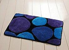 Teppich Eingang Mats Fußmatte-Matten-Badematte Badematte 50 x 80 cm ( Farbe : Blau )
