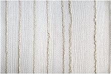 Teppich Elfenbeinfarben Baumwolle 120x180cm HYGGE
