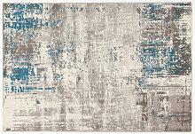 Teppich Elfenbeinfarben und blau 160 x 230 cm CAPS