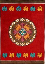 Teppich Ella, rot (Ø 120 cm)