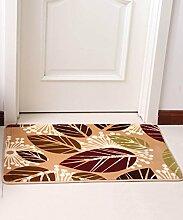 Teppich Europäische Pastoral Teppich Wasserabsorption Rutschfeste Rechteck Badezimmer Wohnzimmer Sofa Teppich Hall Schlafzimmer Teppich Lebensmittel ( Farbe : B , größe : 140*200CM )