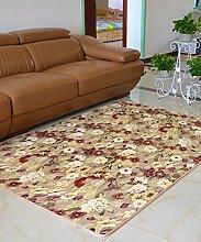 Teppich Europäische Pastoral Teppich Wasserabsorption Rutschfeste Rechteck Badezimmer Wohnzimmer Teppich Hall Schlafzimmer Teppich Lebensmittel ( Farbe : A , größe : 80*160cm )