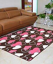 Teppich Europäische Pastoral Teppich Wasserabsorption Rutschfeste Rechteck Badezimmer Wohnzimmer Teppich Hall Schlafzimmer Teppich Lebensmittel ( Farbe : B , größe : 80*200CM )