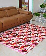 Teppich Europäische Pastoral Teppich Wasserabsorption Rutschfeste Rechteck Badezimmer Wohnzimmer Teppich Hall Schlafzimmer Teppich Lebensmittel ( Farbe : C , größe : 80*200CM )